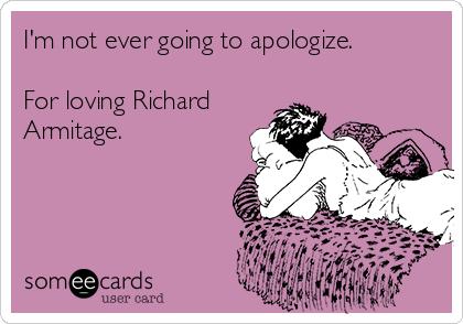 Not apologizing.