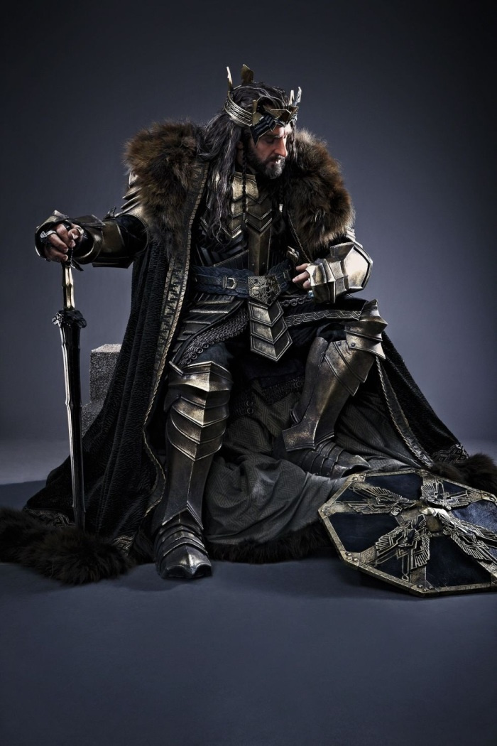 Crowned Thorin  Image by Sarah Dunn/Nels Israelson for The Hobbit - The Battle of the Five Armies (2014)