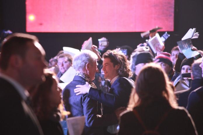 Ian McKellen and Orlando Bloom