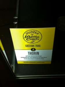 Thorin costume trail