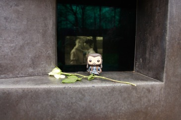 Thorin at the memorial to homosexuals persecuted under nazism
