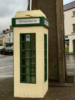 Reused Irish phonebooth - loved that they used the old script