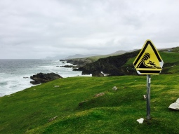 The signage never fails to catch my attention. On Achill Islanad