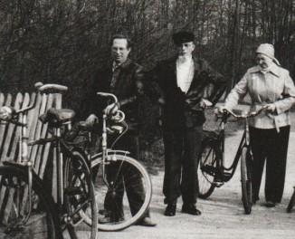 Papa mit Rad