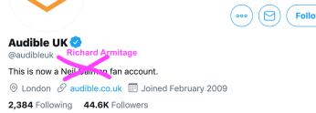 fan account